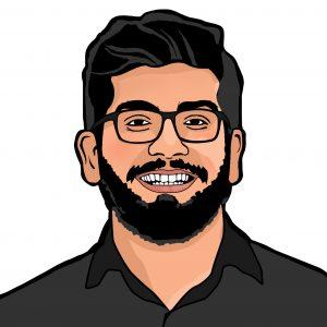 Homem - Arte caricatura
